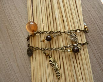 Amber Bohemian chic bracelet