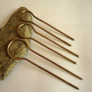 Copper Metal handwork hair accessories! Hairpin Hair forte made of copper metal with gems turquoise stones Hair jewelry