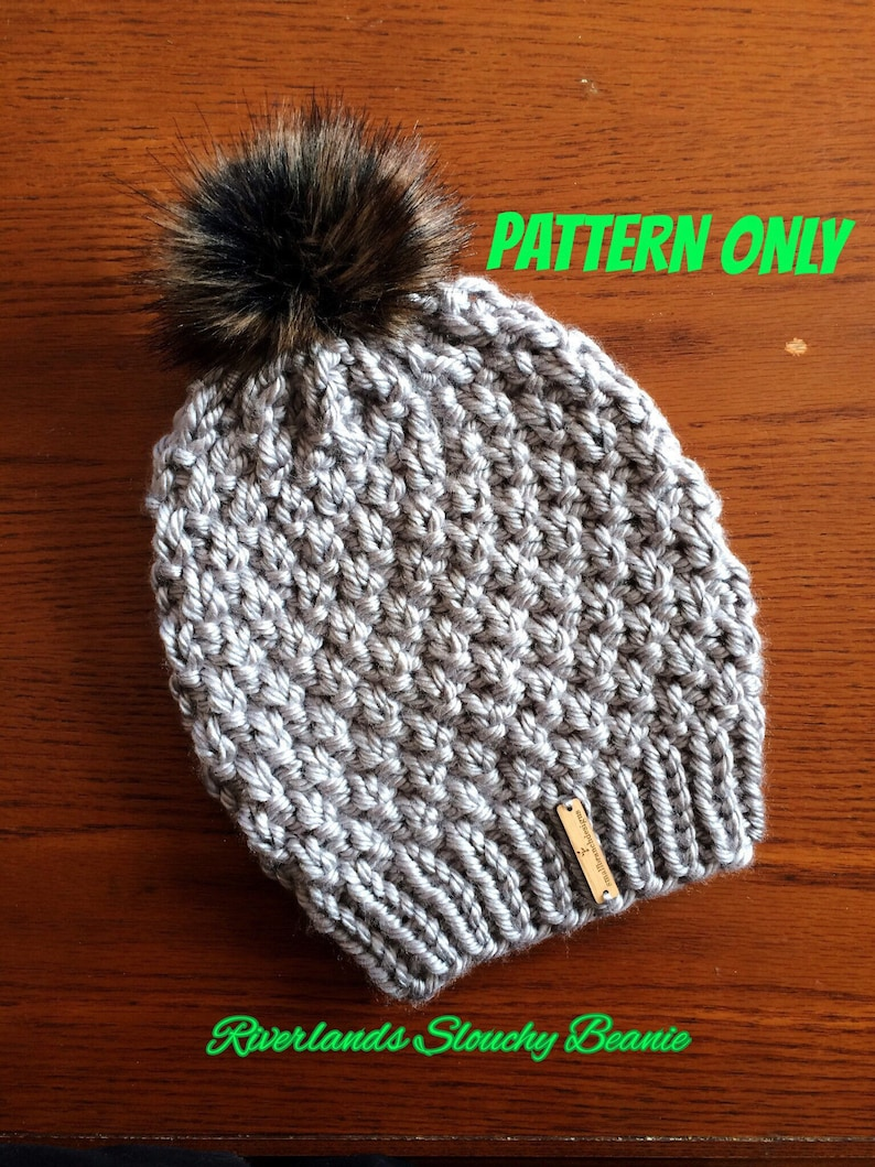 Slouchy Hat Pattern Slouchy Beanie Knitting Pattern Mommy  5a692dcca12f