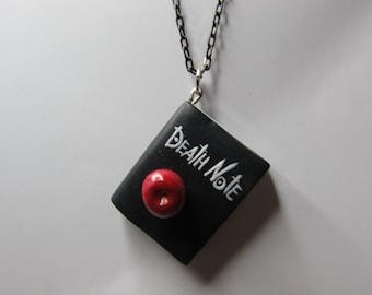 Polymer Clay Death Note Book Pendant
