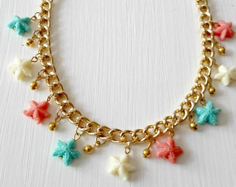 Necklace 219N with sea stars