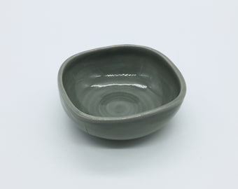 Small Carved Gray Bowl