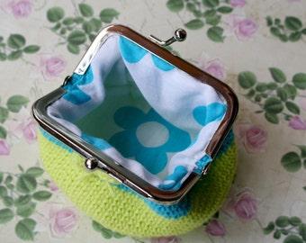 Crochet purse small fluorine / crochet purse