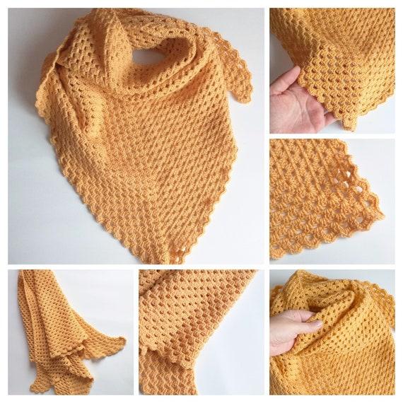 Merino Wolle Häkeln Schal Schal Häkeln Handgemachte Schal Etsy