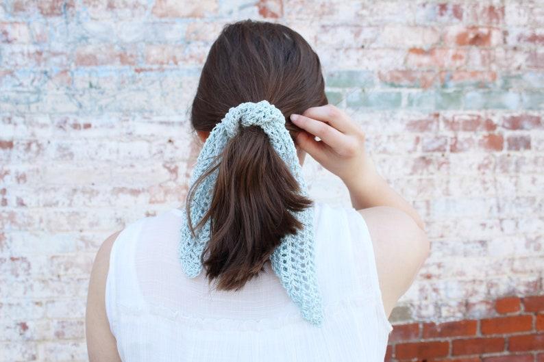 CROCHET PATTERN / crochet summer scarf pattern/ hair scarf / image 0