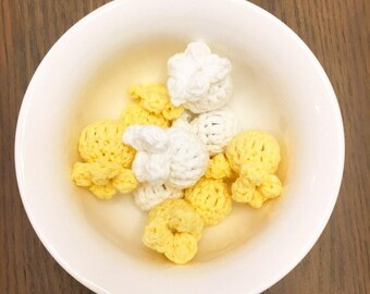 Popcorn, cat, cat toy, catnip, catnip toy, funny cat toy, kitty toy, handmade, crochet cat toy