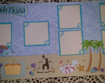 Beach 12x12 Two Page  Scrapbook Layout