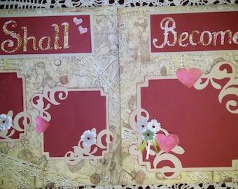 12x12 Wedding Scrapbook pages