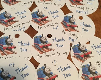 12 Thomas the Train, James the Red Engine or Percy Party Favor Tags