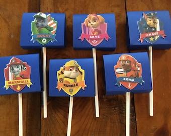 6 Paw Patrol Lollipop Holders Covers