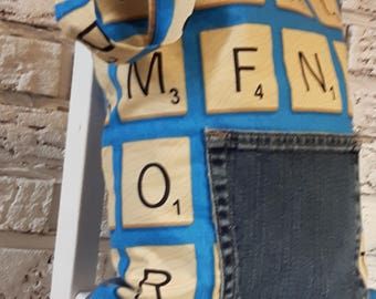 Small bag * Scrabble * recycled Tote