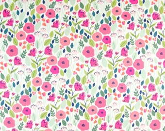 a4aa9bd6b0c Poppy Fabric - Poppy Field - Jersey Knit Fabric by the 1/2 Yard - Floral  Fabric - Floral Jersey - Dear Stella Fabric - Cotton Jersey Fabric