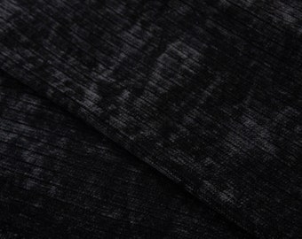 Chenille Fabric - Sweater Fabric - Sweater Knit Fabric - Knit Fabric by the 1/2 Yard - Fabric for Girls - Black Chenille Fabric - Sewing
