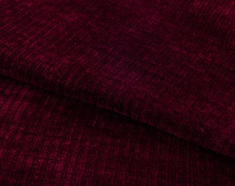 Chenille Fabric - Sweater Fabric - Sweater Knit Fabric - Knit Fabric by the 1/2 Yard - Fabric for Girls - Maroon Chenille Fabric - Sewing