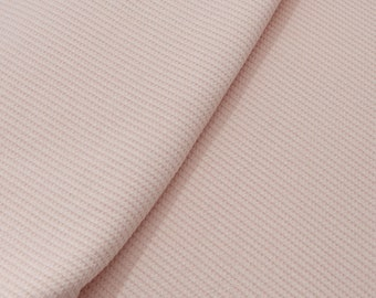 Waffle Fabric - Sweater Fabric - Jacquard Waffle Fabric - Knit Fabric by the 1/2 Yard - Fabric for Girls - Pink Waffle Fabric - Sewing