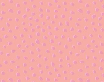 Blush Pink Dots Fabric - Jersey Knit Fabric by the 1/2 Yard - Jersey Knit - Stretch Girls Fabric - Riley Blake Fabric