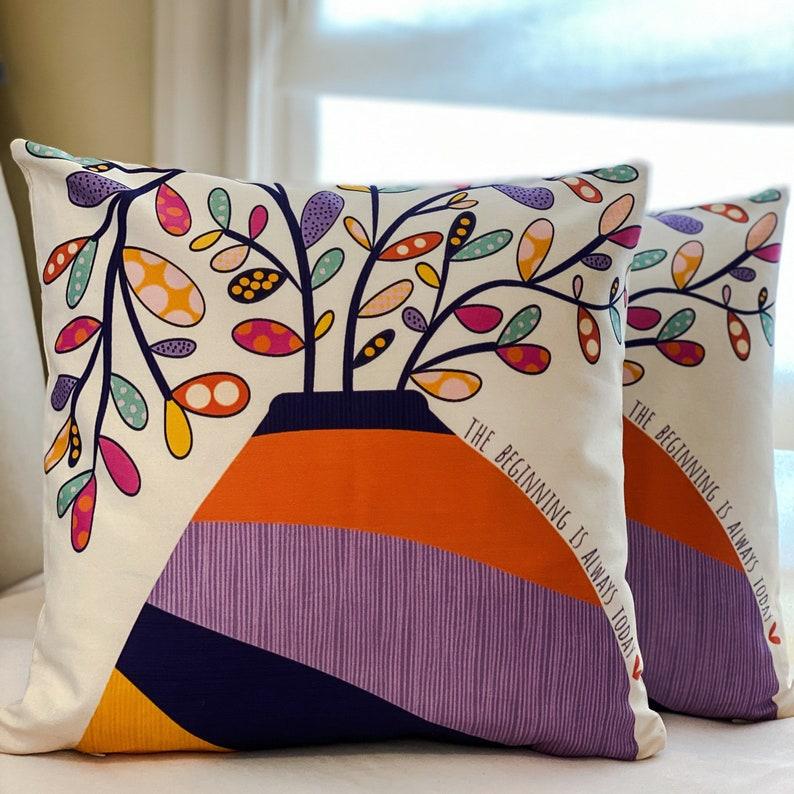 18x18 decorative pillow with insert \u201cToday\u201d