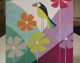 """5x7 greeting card with envelope """"Toucan"""""""