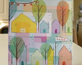 """5x7 greeting card with envelope """"Happy - birthday"""""""