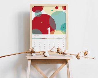 CALENDAR 2021 | Instant Download | Printable Calendar | Abstract Calendar | 2021 Calendar | Planner