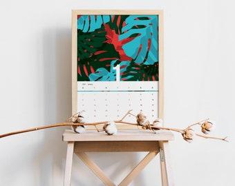 CALENDAR 2021 | Instant Download | Printable Calendar | Monstera Calendar | Botanical | 2021 Calendar | Planner | Botanical Calendar