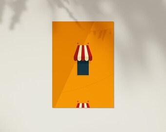 Instant Downloads | Gamboge | Wall Art | Wall Print | Minimal Print | Minimal Art | Poster | Wall Art