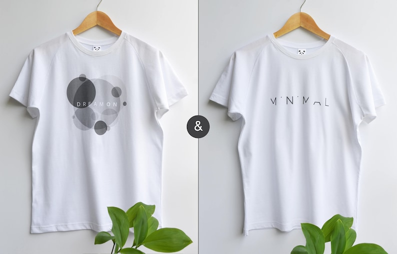 B&W Tee pack | Unisex Graphic T- shirt | 2 Shirts |FREE SHIPPING WORLDWIDE  | 100% Cotton