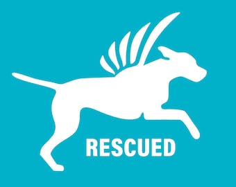Rescued  Dog Decal