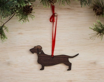 Wire Haired Dachshund Ornament