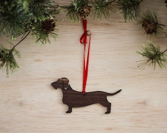Wirehair Dachshund Ornament