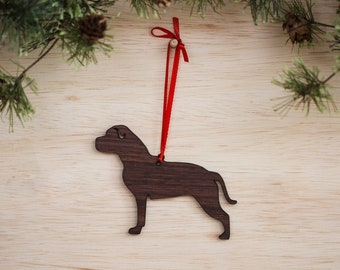 American Staffordshire Terrier Ornament