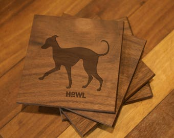 Italian Greyhound Coaster Set