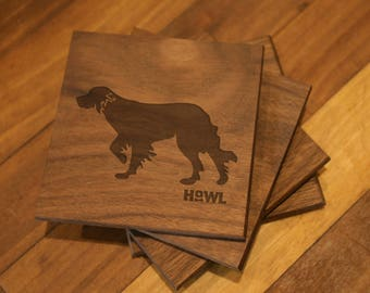 English Setter Coaster Set