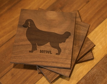 Golden Retriever Coaster Set