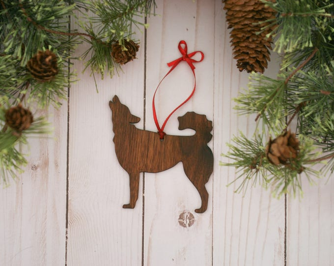 Featured listing image: Siberian Husky Dog  Ornament | Personalized Dog Ornaments