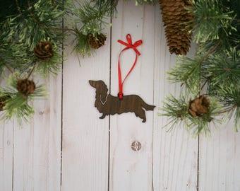 Longhair Dachshund Ornament