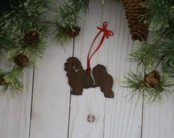 Customizable Havanese Christmas Tree Ornament | Personalized Dog Ornament