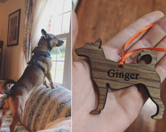 Featured listing image: Custom Dog Ornament – Design My Dog  Decor | Personalized Dog Ornaments