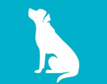 Labrador Retriever Sitting Car Decal