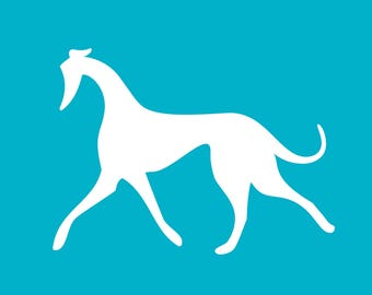 Prancing Hound Decal