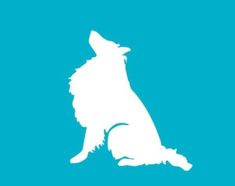 Rough Collie Decal