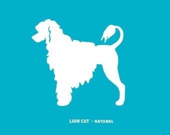 Portuguese Water Dog - Lion Cut Ornament