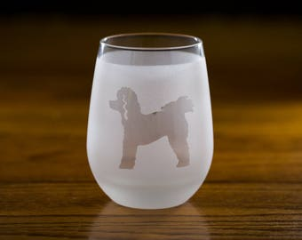 Poodle Stemless Wine Glass Set  | Birthday Gift for Dog Lover | Housewarming Present | Wine Drinker Gift | Customizable Glassware