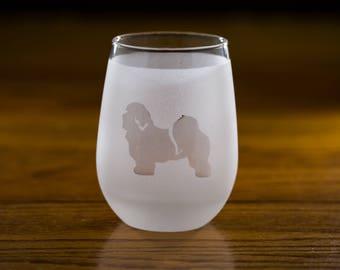 Havanese Stemless Wine Glass Set  | Birthday Gift for Dog Lover | Housewarming Present | Wine Drinker Gift | Glassware