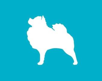 Pomeranian Car Decal| Dog Breed Sticker | Dog Silhouette | Laptops | Tumblers | Boats | Trucks | Pomeranian Mom & Dad | I Love My Pomeranian