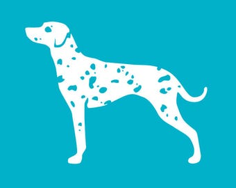 Dalmatian Car Decal | Dog Breed Sticker | Dog Silhouette | Laptops | Tumblers | Boats | Trucks | Dalmatian Mom & Dad | I Love My Dalmatian