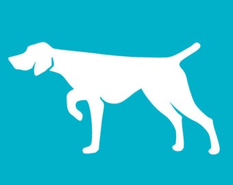 German Shorthaired Pointer Car Decal | Dog Breed Sticker | Dog Silhouette | Laptops | Tumblers | Boats | Trucks |  I Love My GSP