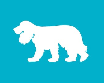 Cocker Spaniel Decal | Dog Breed Sticker | Dog Silhouette | Car | Laptops | Tumblers | Boats | Trucks | I Love My Cocker Spaniel