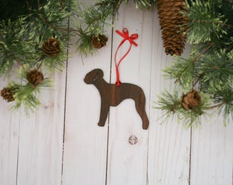 Customizable Bedlington Terrier Christmas Tree Ornament | Personalized Dog Ornament