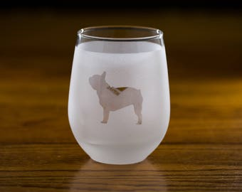 French Bulldog Custom Wine Glass Set
